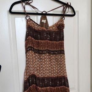 Boho Racerback Lined Mini Summer Dress